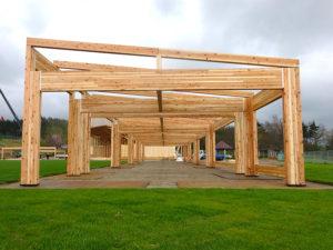植樹祭木造テント