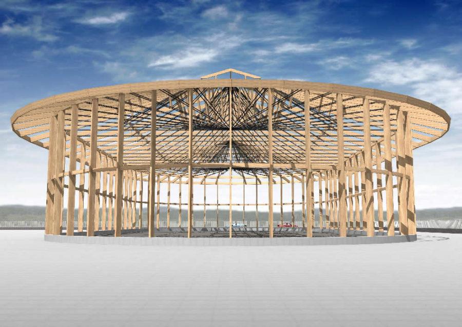 楕円型屋根